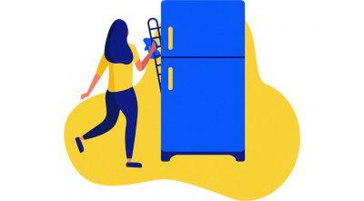 limpe regularmente as grelhas e tubos atrás do frigorífico para poupar energia
