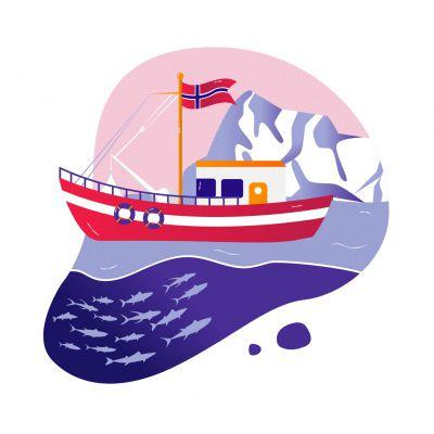 barco de pesca norueguês