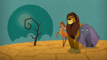 Bambi, Rei Leão e Dumbo