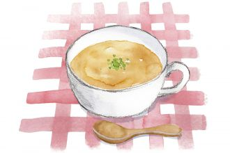 Green bean soup illustration