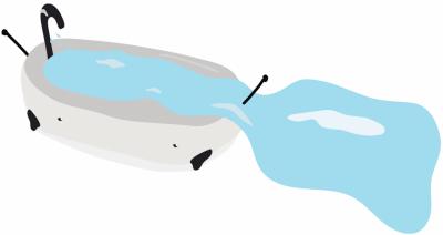 Duches e banhos demorados desperdiçam muita água.