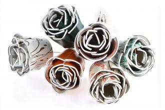 Rosas feitas com cápsulas de café