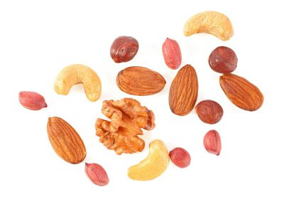 Ingredientes da granola: frutos secos