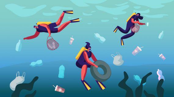 Do mar para o roupeiro: vista plástico reciclado