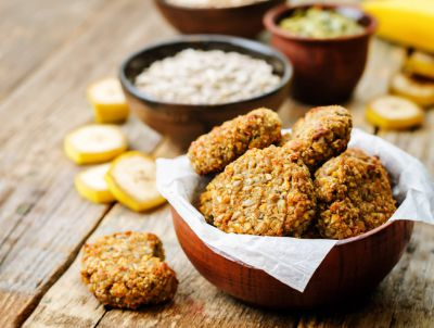 Oats and banana biscuits