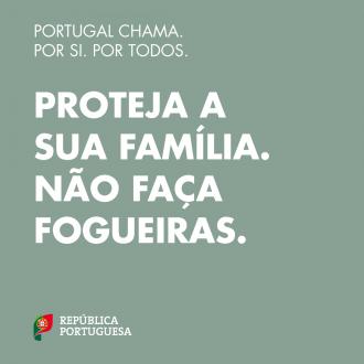 Portugal Chama: proteja a sua família, não faça fogueiras