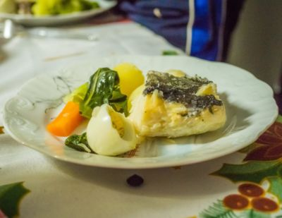 Codfish goes hand in hand with olive oil.