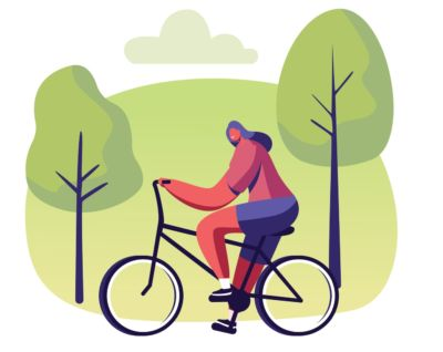 September: I'll cycle or ride the bus to work