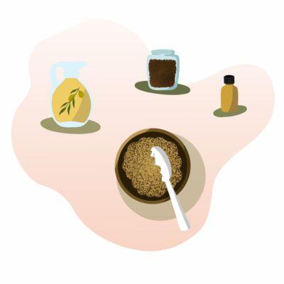 Esfoliante natural de azeite e café para o corpo