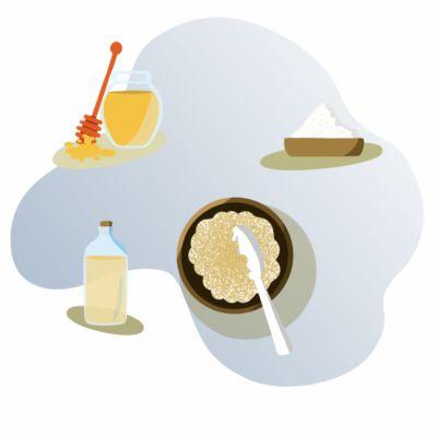 Esfoliante natural de mel e açúcar para o rosto