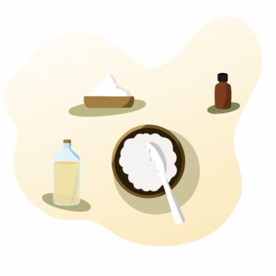 Esfoliante natural de sal marinho para o corpo