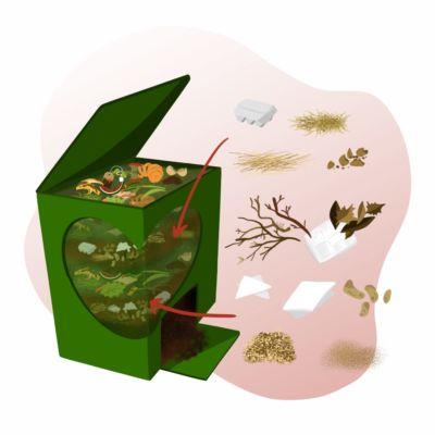 Compostagem em casa: resíduos castanhos