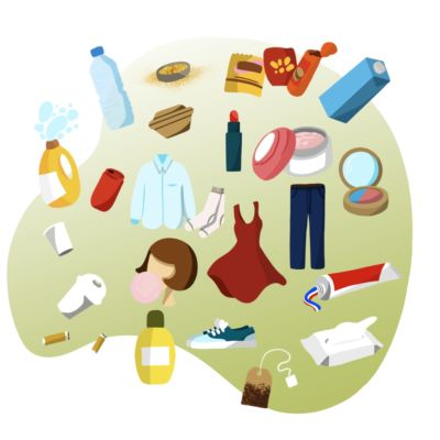 Products with microplastics