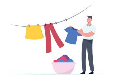 Seque a roupa no estendal